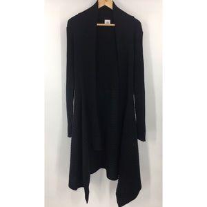 CAbi 3164 Sweetheart Sweater Cardigan Medium Black